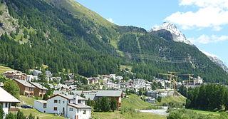 Pontresina Place in Graubünden, Switzerland