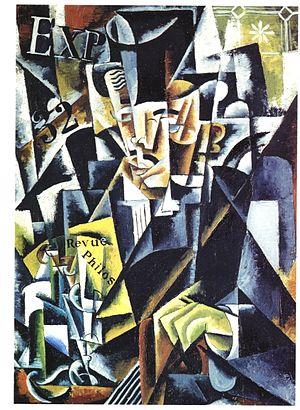 Lyubov Popova - Portrait of a Philosopher (Artist's brother, Pavel Sergeyevich Popov), 1915