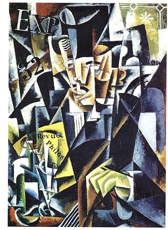 Lyubov Popova - Portrait of a Philosopher (Artist's brother, Pavel Sergeyevich Popov), 1915
