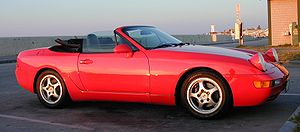 Porsche 968 - 1994 968 cabriolet, with the top down and lights up