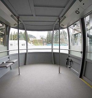 Portland Aerial Tram - The Portland Aerial Tram's interior