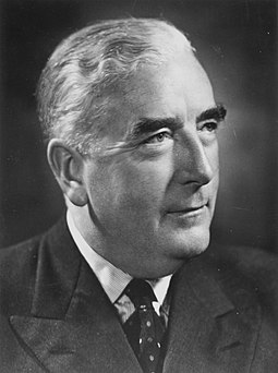 Sir Robert Menzies, founder of the Liberal Party of Australia and Prime Minister of Australia 1939-41 (UAP) and 1949-66 Portrait Menzies 1950s.jpg