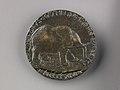 Portrait medal of Isotta degli Atti (obverse); An Elephant (reverse) MET 1284v.jpg