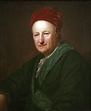 Adam Friedrich Oeser - Portrait, by Anton Graff (Musée des Beaux-Arts de Strasbourg)
