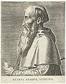 Portret van Pietro Bembo Petrvs Benbvs, Venetvs (titel op object) Portretten van beroemde Europese geleerden (serietitel) Virorum doctorum de Disciplinis benemerentium effigies (serietitel), RP-P-1909-4447.jpg