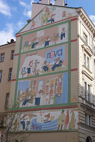 TV Nova (Czech Republic) - Façade of the former TV Nova building.
