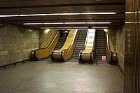 Praha, Vinohrady, stanice metra Želivského.JPG
