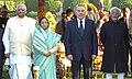 Pratibha Devisingh Patil, the Chief Guest President of the Republic of Kazakhstan, Mr. Nursultan Nazarbayev, the Vice President, Shri Mohd. Hamid Ansari and the Speaker, Lok Sabha, Shri Somnath Chatterjee.jpg