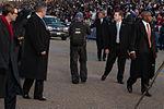 President Barack Obama walks in 57th Presidential Inaugural Parade 130121-Z-QU230-190.jpg