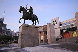 Fructuoso Rivera - Rivera's statue in Montevideo