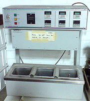 Figure 1b: An older model three-temperature thermal cycler for PCR