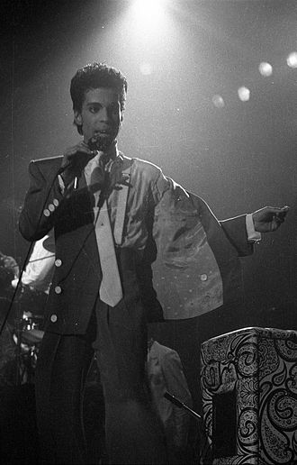 Prince (musician) - Prince performing in Brussels during the Hit N Run Tour in 1986