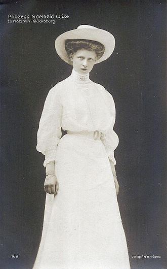 Princess Adelaide of Schleswig-Holstein-Sonderburg-Glücksburg - Image: Princess Adelaide Luise