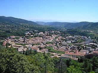 Privas - A view of Privas from Le Montoulon