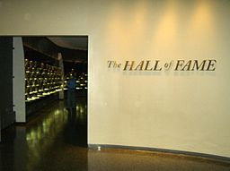 Pro Football hall of Fame inductee display