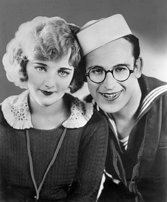 A Sailor-Made Man - Promotional photo with Harold Lloyd and a cardboard cutout of Mildred Davis
