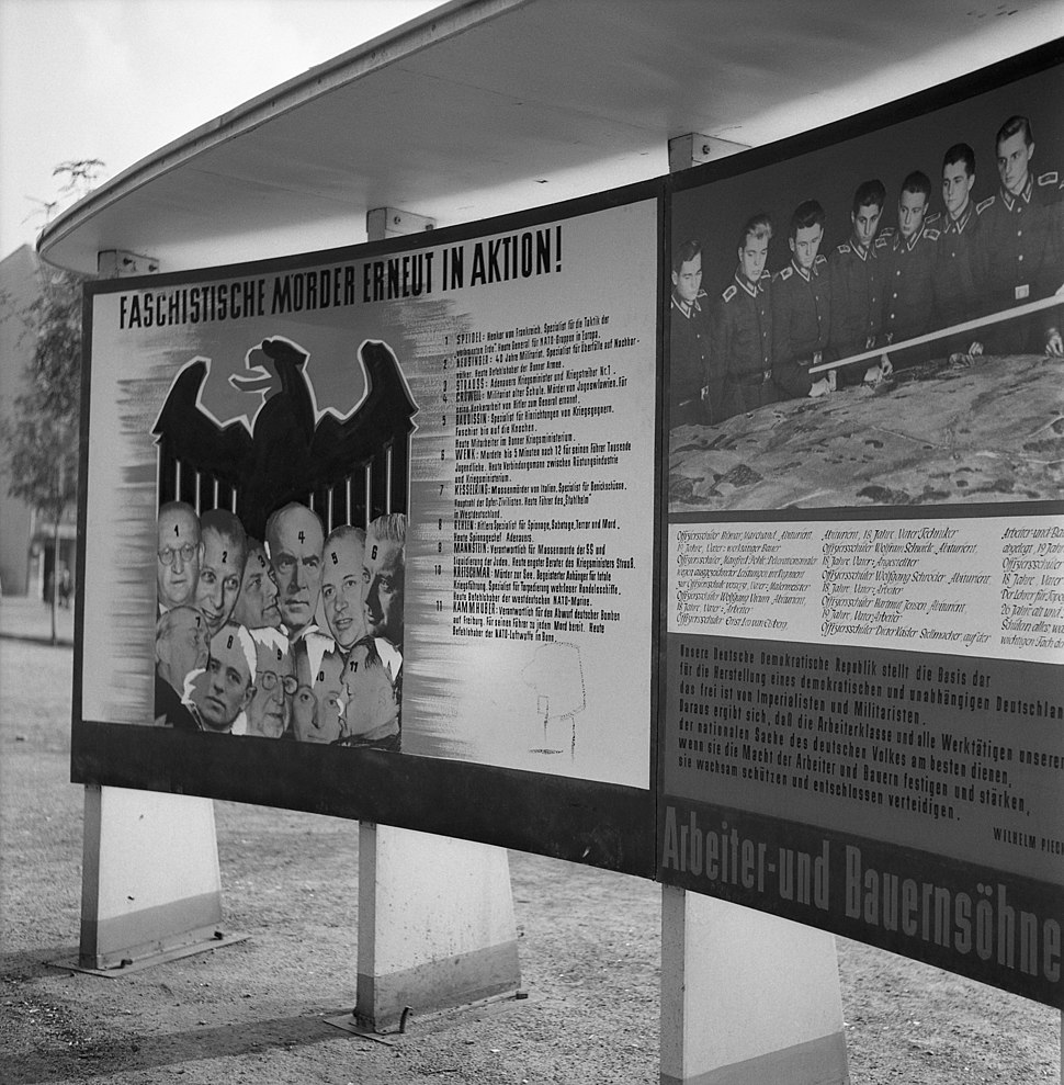 Propaganda gegen Altnazis im Westen, Berlin 1957