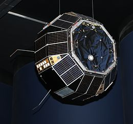Flight spare of the prospero satellite in science museum london