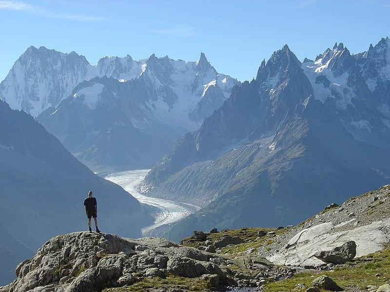 Mer de Glace glacier du Mont Blanc