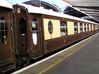 Pullman (car or coach) - Former Brighton Belle Pullman carriage at London Victoria, now part of the Venice-Simplon Orient Express fleet