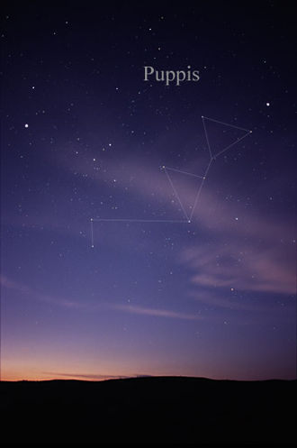 Puppis - The constellation Puppis as it can be seen by the naked eye.