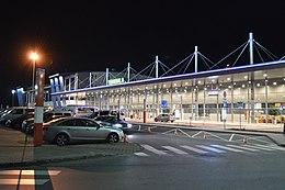 Pyrzowice Katowice Airport noc