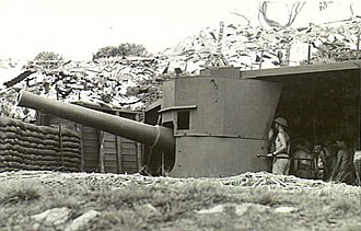 BL 6 inch gun Mk V - QFC gun, Albany defences, March 1943