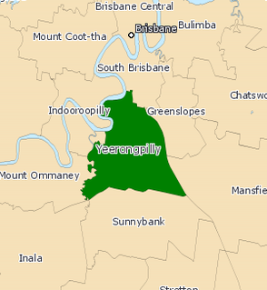 Electoral district of Yeerongpilly Former state electorate in Queensland, Australia
