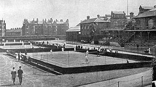 Queens Club private sporting club in West Kensington, London, England