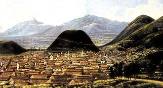 Quito - Quito by Rafael Salas. Painting of mid-19th century