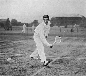 Reginald Doherty - Reginald Doherty – Beginning of a low backhand drive