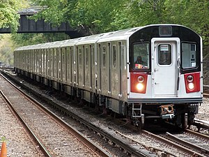 R188 (New York City Subway car) - Image: R188 7811 7821 Testing on Dyre Avenue Line