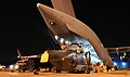 RAF Unloading Merlin Helicopter from C17 Aircraft in Afghanistan MOD 45154462.jpg