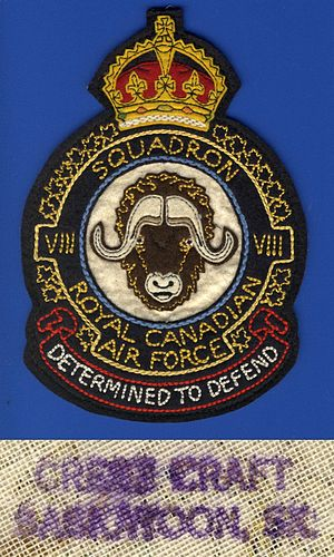 No. 8 Squadron RCAF - A RCAF World War II heraldic jacket patch for VIII (8) Squadron.