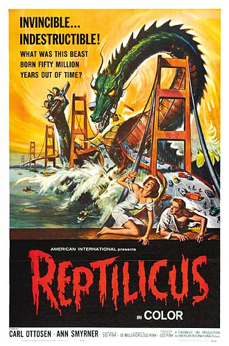 Reptilicus - American theatrical release poster by Reynold Brown.
