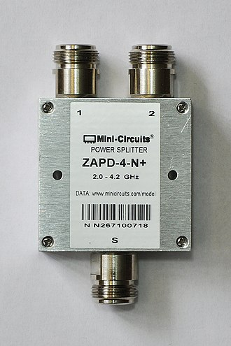 Power dividers and directional couplers - A 3 dB 2.0–4.2 GHz power divider/combiner.