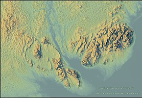 Topographic Elevation Map.