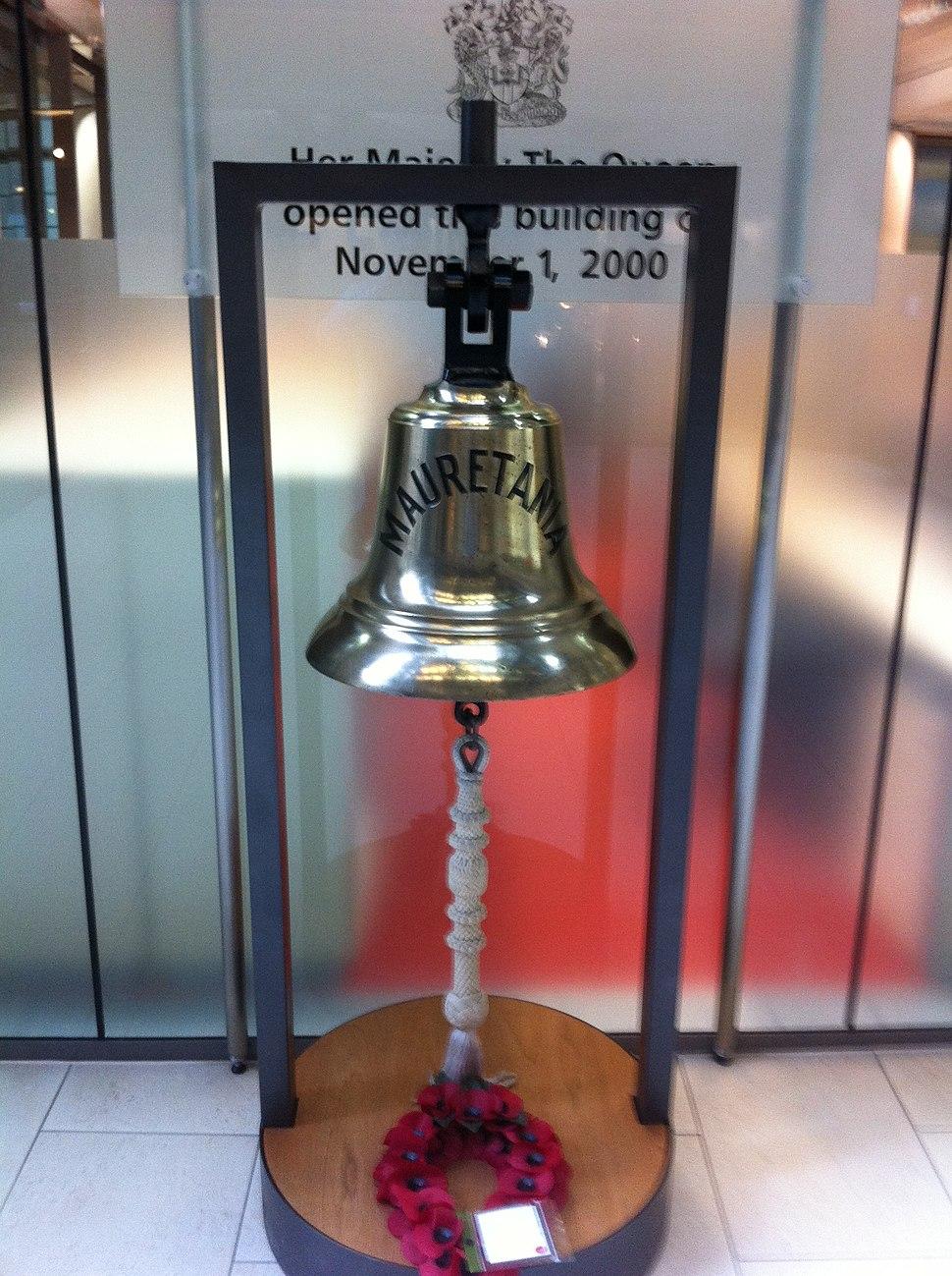 RMS Mauretania Ship%27s Bell