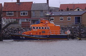 Great Yarmouth and Gorleston Lifeboat Station - The Trent-class lifeboat ''Samarbeta'' (ON 1208) is the current ALB at Great Yarmouth and Gorleston.