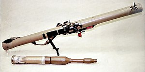 Tandem-charge - An RPG-29 and its PG-29V rocket with a tandem-charge warhead