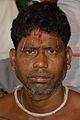 Rabin Ghughu - Forehead Pierced Gajan Sannyasi - Bainan - Howrah 2015-04-14 7995.JPG