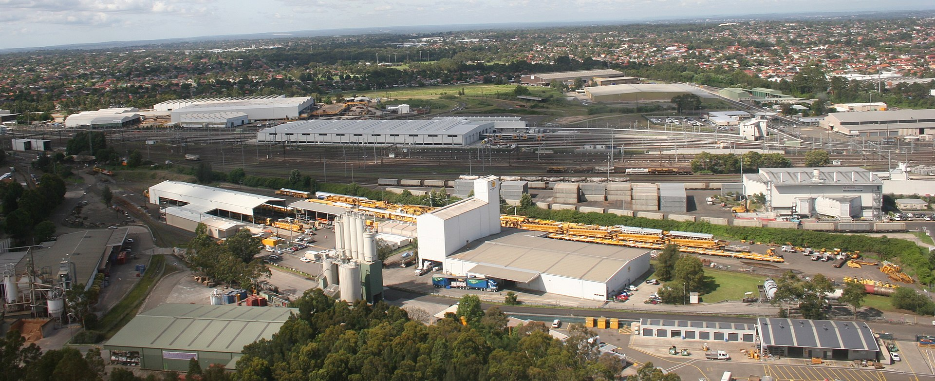 Railway storage and maintenance facilities