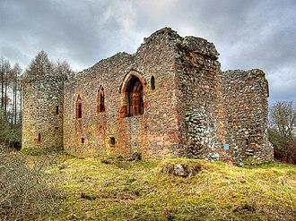 County of Nairn - The 13th century Rait Castle,  near Nairn