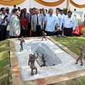 Raksha Mantri, Shri Manohar Parrikar re-commissioning, post restoration, the oldest Dry Dock of MDL operating since 1774.jpg