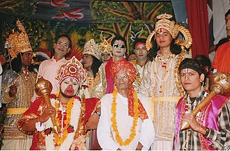Ramlila - Lead performers of a Ramlila troupe mandali, with the director, called vyasa