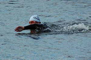 English: Open water swimmer