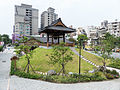 Rebuilt Bell Tower View from TRA Ximen Station Exit 20140705.jpg