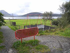 "Sabbath in Christianity - A recreation ground on Raasay displaying a sign ""Please do not use this playing field on Sundays""."