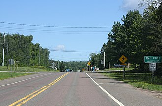 Red Cliff, Wisconsin - Image: Red Cliff Wisconsin Sign WIS13