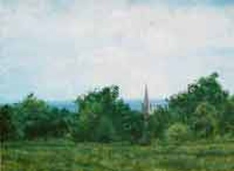 Redhill, Surrey - View from Redhill Common towards St John's Church August 2000